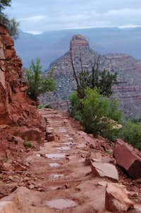 Bright Angel Trail after rain