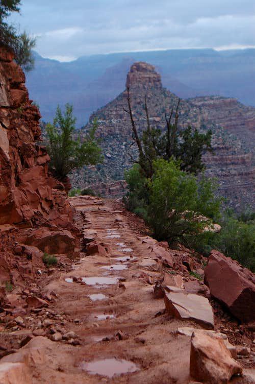 Bright Angel Trail after rain