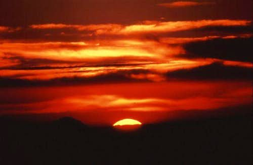 Sunrise over the White...