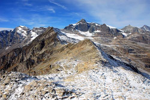 Monte Moro Pass and Strahlhorn 4190m