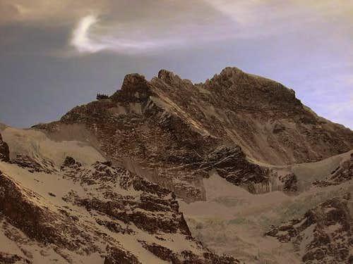 Effet de lune à la Jungfrau...