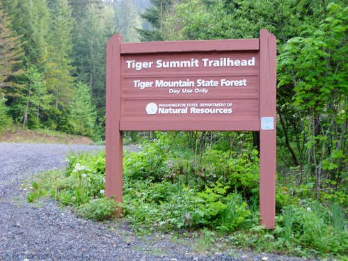 Tiger Summit Trailhead