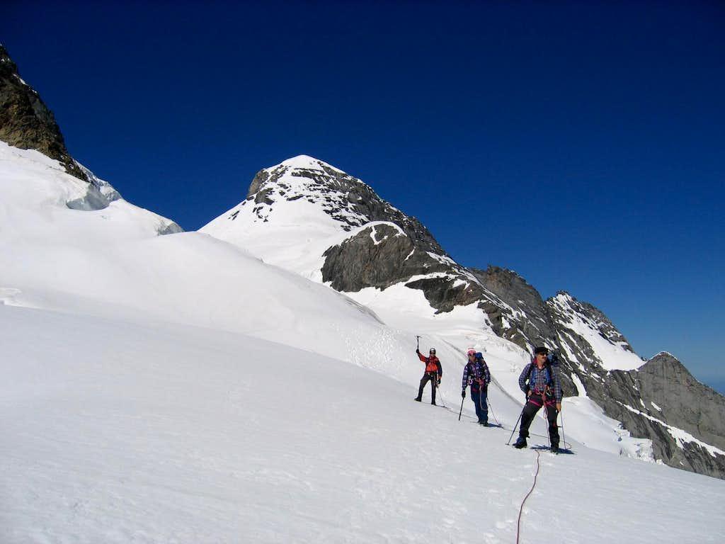 Descent from Wetterhorn 3692m