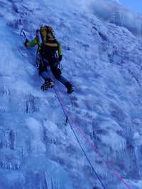 Bergshrund on the Bolum Glacier