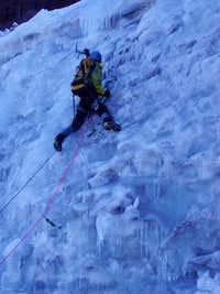 Bergy climbing on the Bolum Glacier