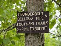 Thunderbolt Trail head
