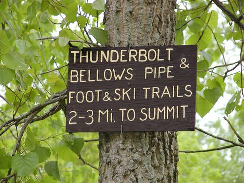 Thunderbolt Trail head
