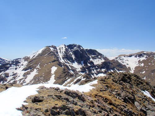 Ridge From Little Horn To Fluted Peak-Fluted Peak Inc.