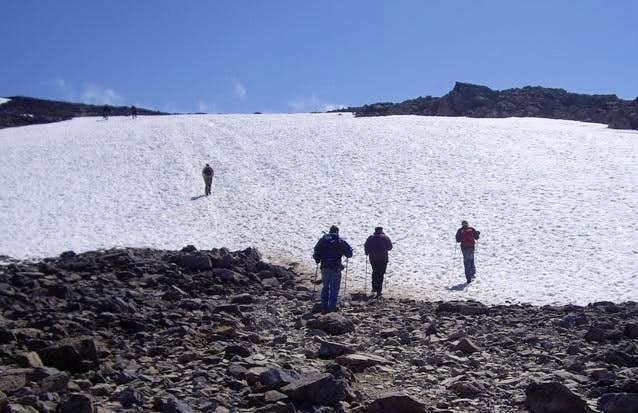 Snowbank on Ben Nevis