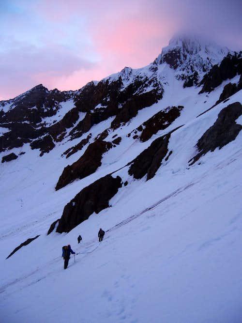 Climbers on Reid Glacier