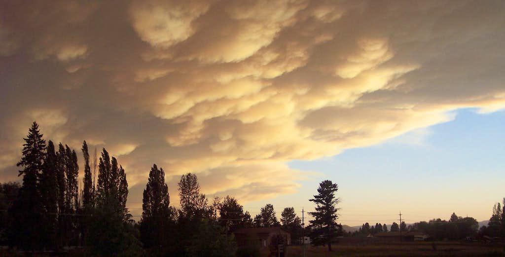 Clouds during Montana's 2007 Fire Season