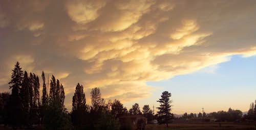 Clouds during Montana\'s 2007 Fire Season