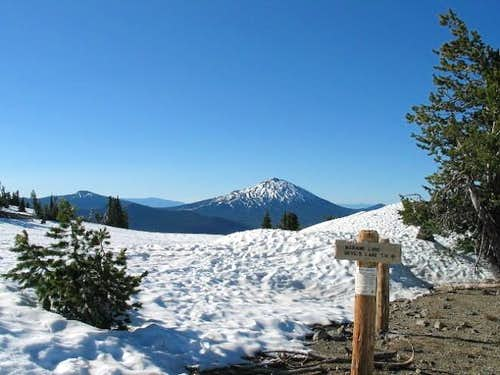 Mt. Bachelor from the Moraine...