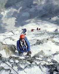 Hörnligrat - final slopes.