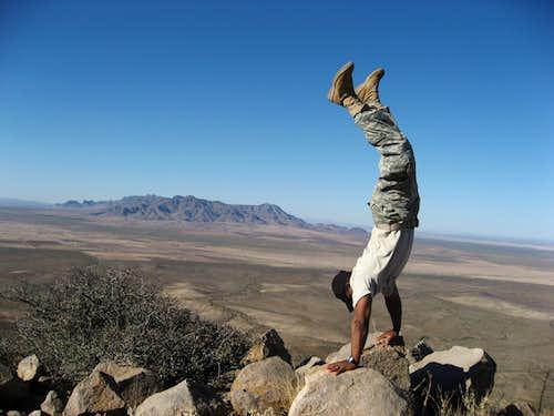 Handstand on top