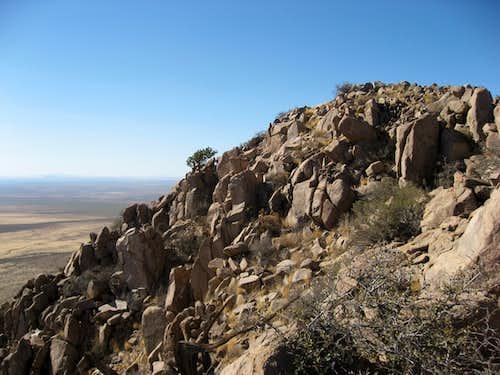 Summit ridge of North Peak