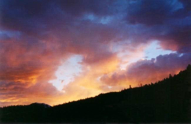 Sunset over the La Garita...