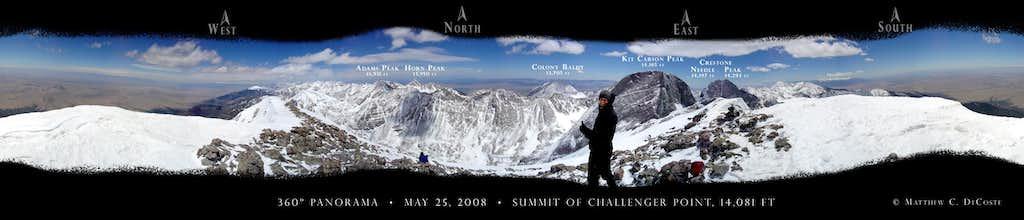 360 degree summit panorama Challenger Point