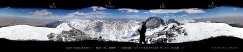 360 degree summit panorama Challenger Point