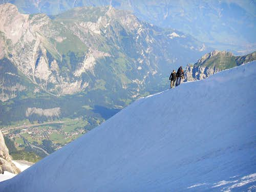 Descent from Doldenhorn 3643m