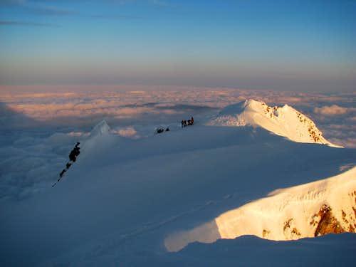 Climbers on Hood