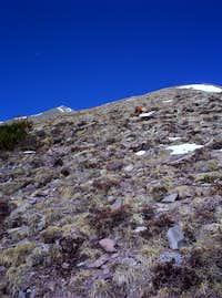 upper slopes Horn Peak