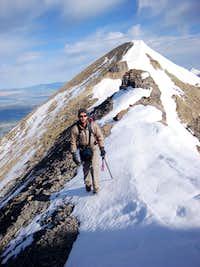 Strolling South Along the Ridge Between North Timpanogos's False and True Summits