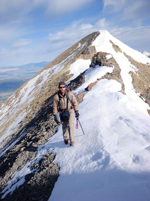Strolling South Along the Ridge Between North Timpanogos\'s False and True Summits