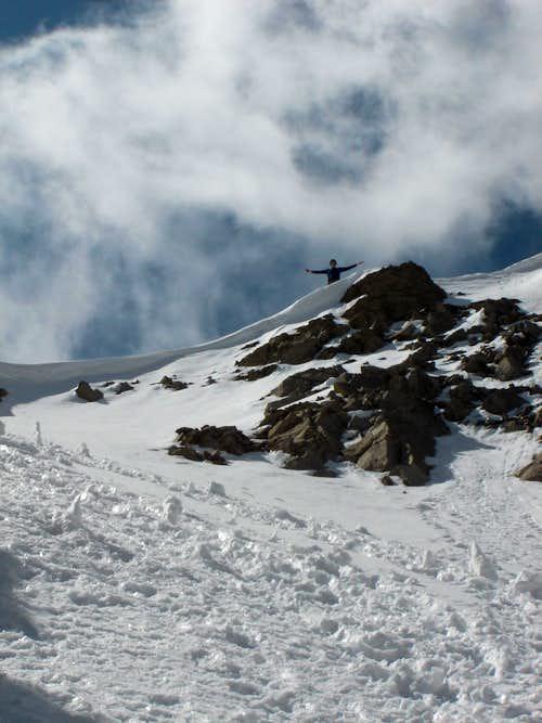 Matt Van Horn on the ridge