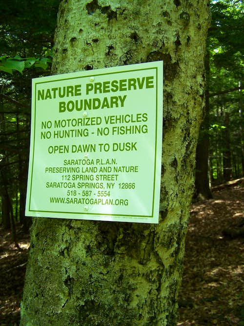 Spruce Mountain Trail Sign