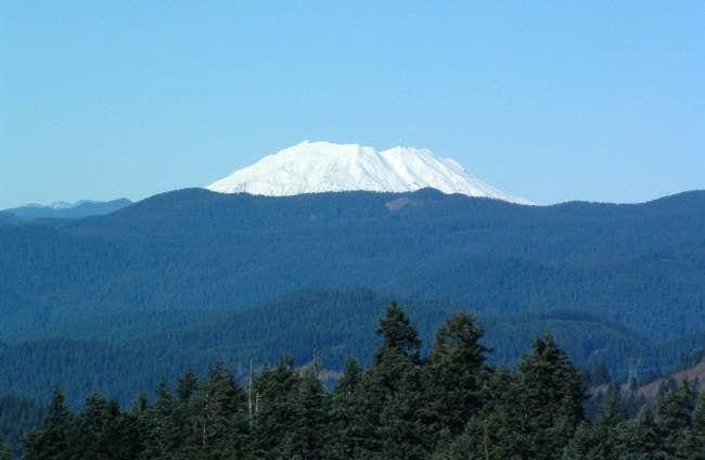 View of Mount St. Helens from...