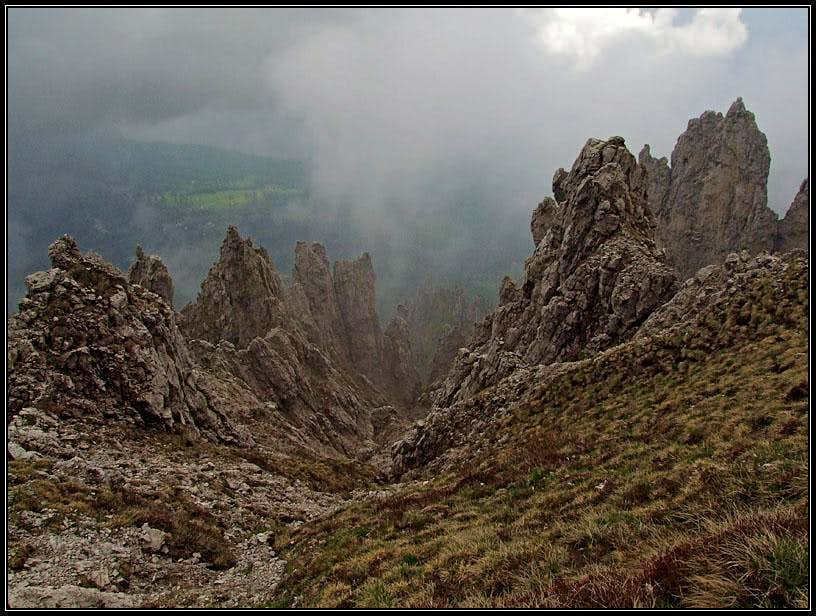 The pinnacles of Grignetta