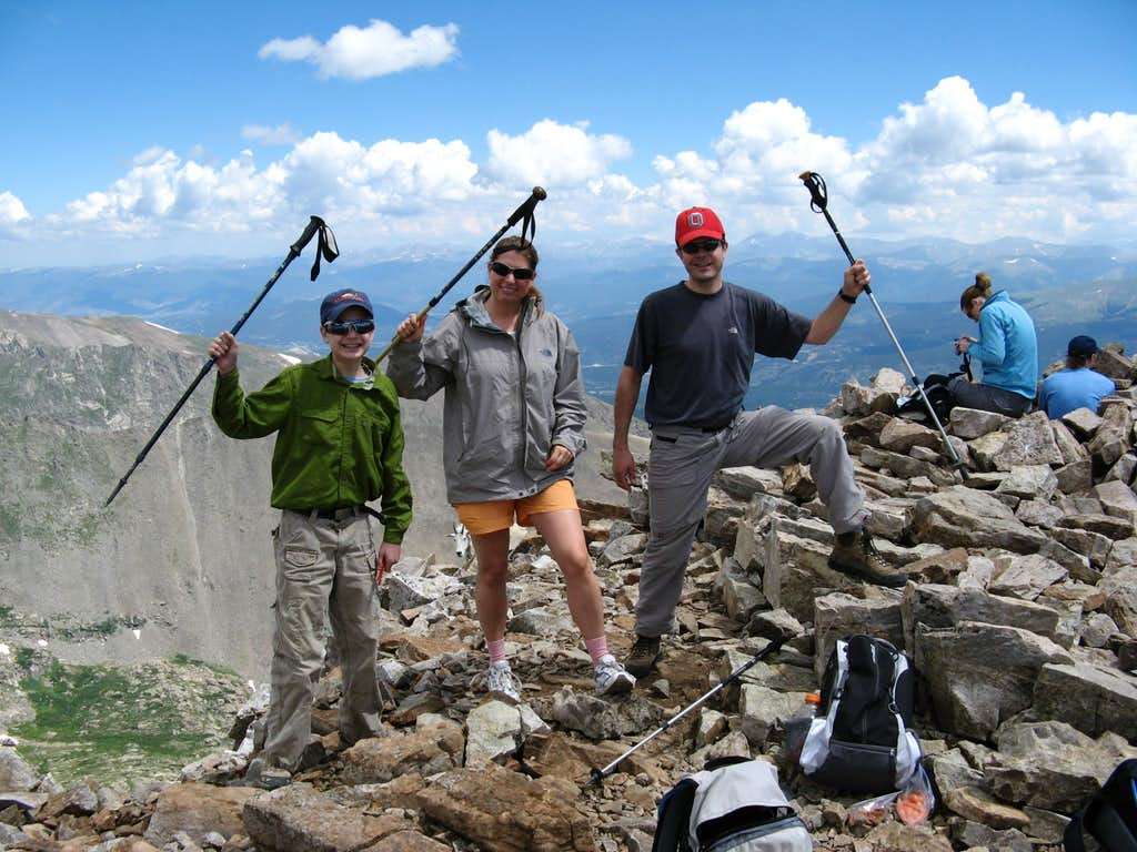 Family Hero Shot on Quandary Peak