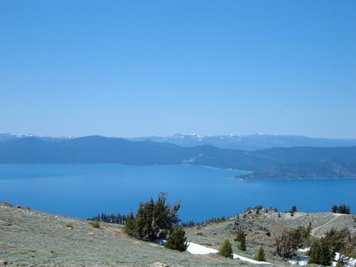 Lake Tahoe from near the summit of Snow Valley Peak