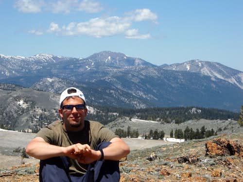 Sitting atop Snow Valley Peak.