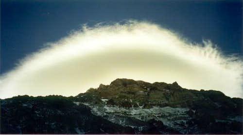 Mushroom on Aconcagua. The...