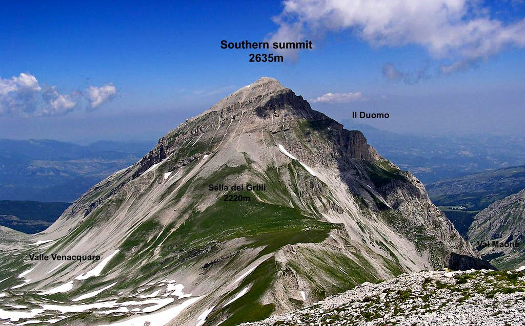 Pizzo d'Intermesoli from South