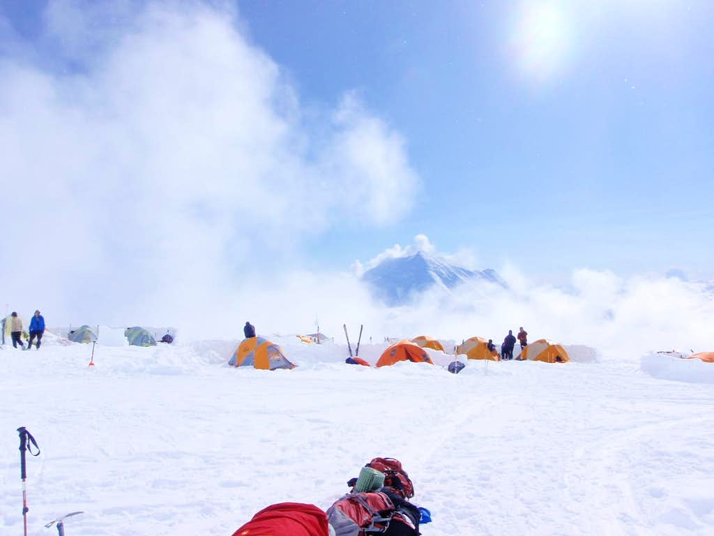 14000 Camp w/ Foraker in Background