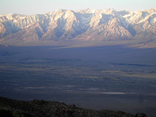 The eastern view of the Lone Pine Peak Massif