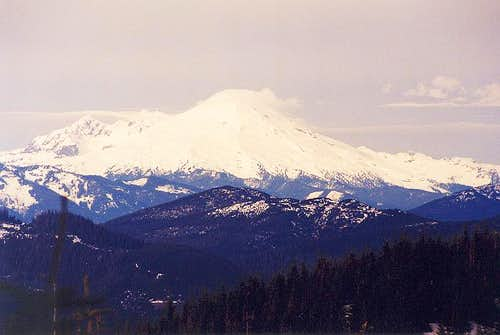 Mt. Baker in winter. Photo...