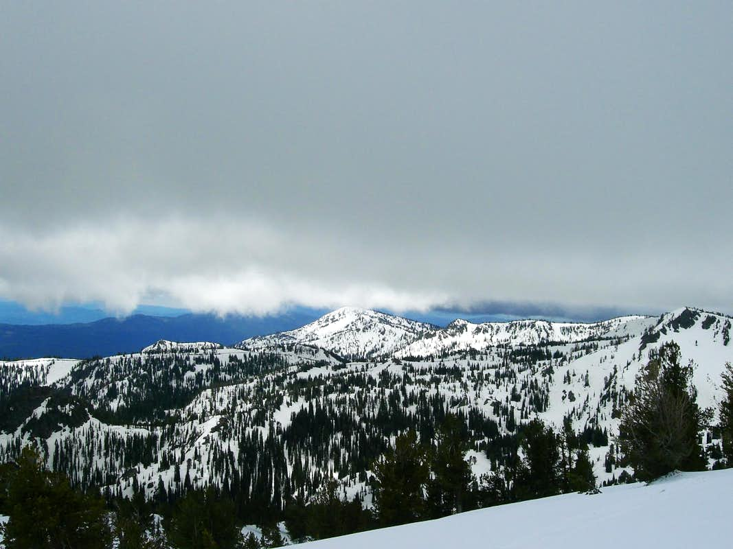 Tripod Peak from Snowbank
