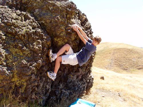 Warming up at Stepho's Rock: Hillcrest Boulders