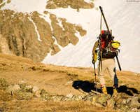 Nearing the Dead Dog Couloir