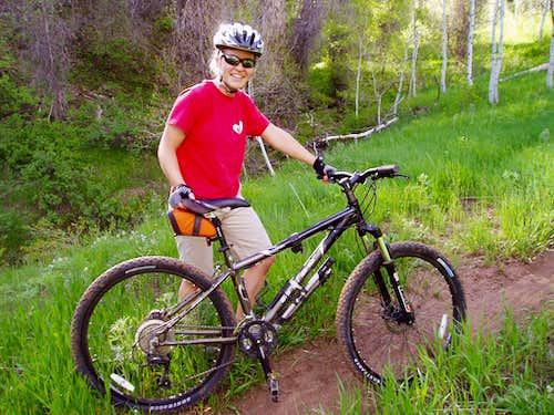 Mountain biking in Hobble Creek Canyon