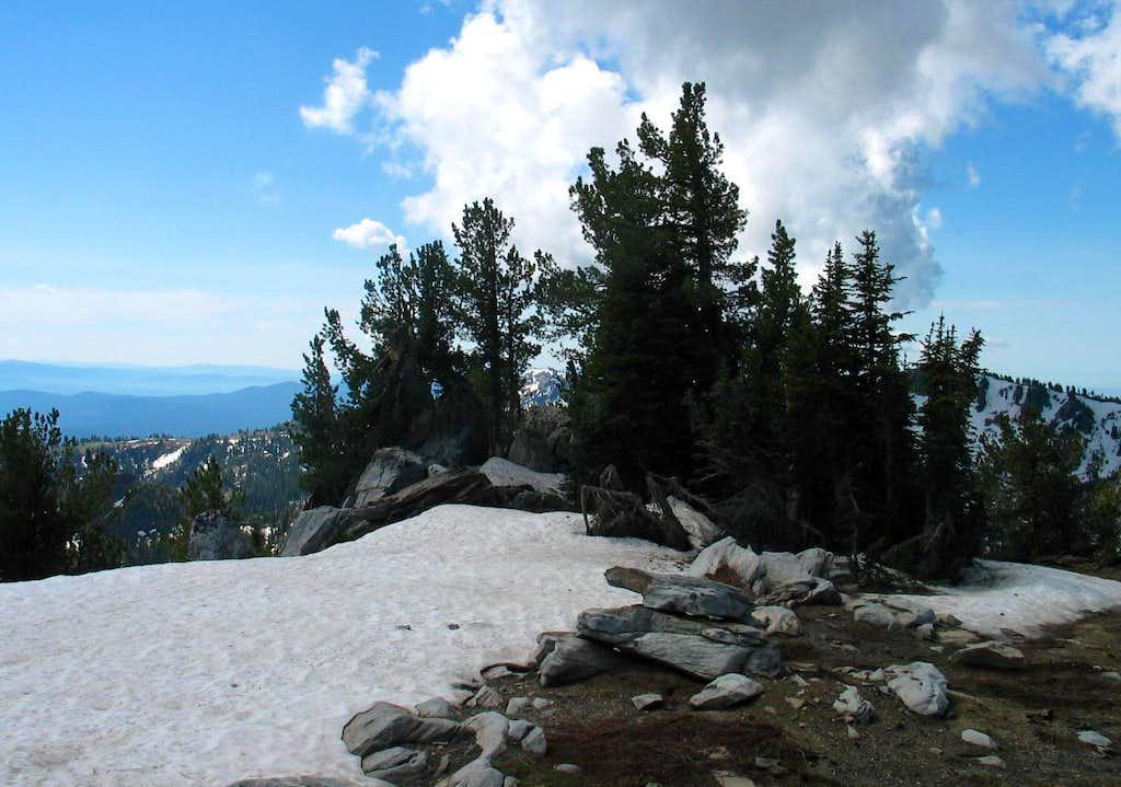 Highest spot on Snowbank
