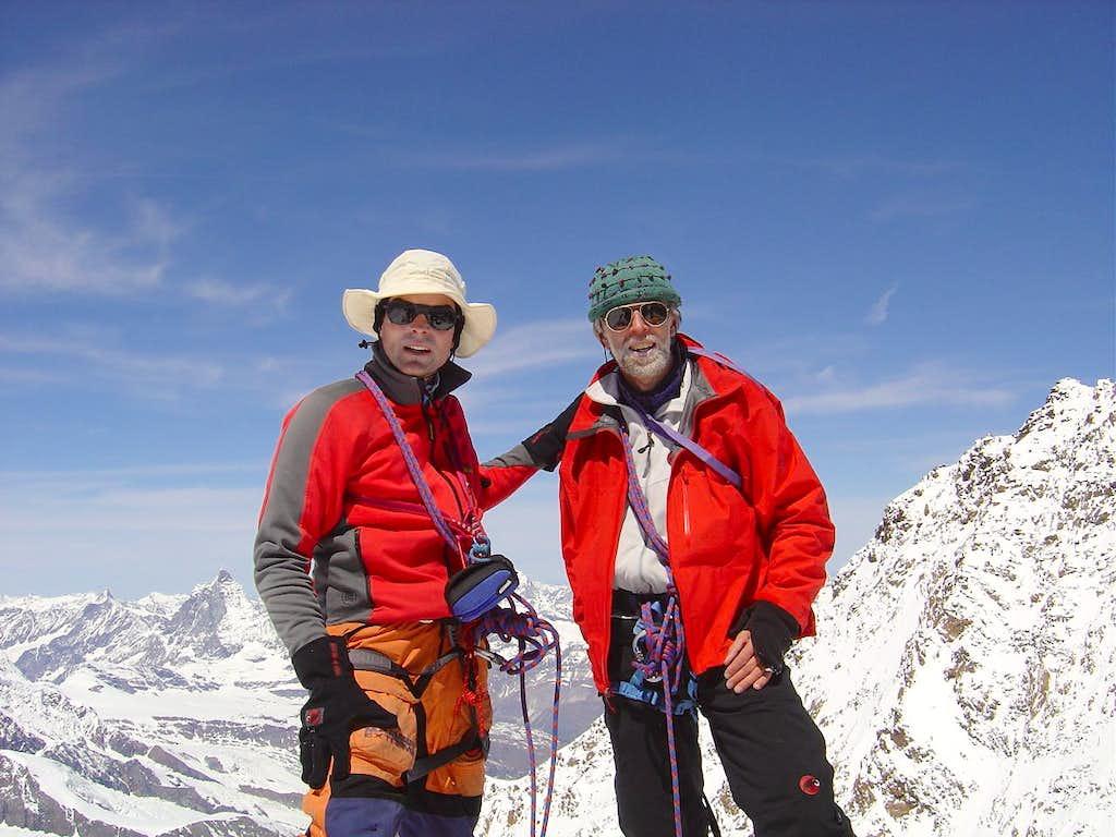Summit of Zumsteinspitze 4536m
