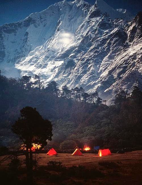 Our camp at Tengboche,...