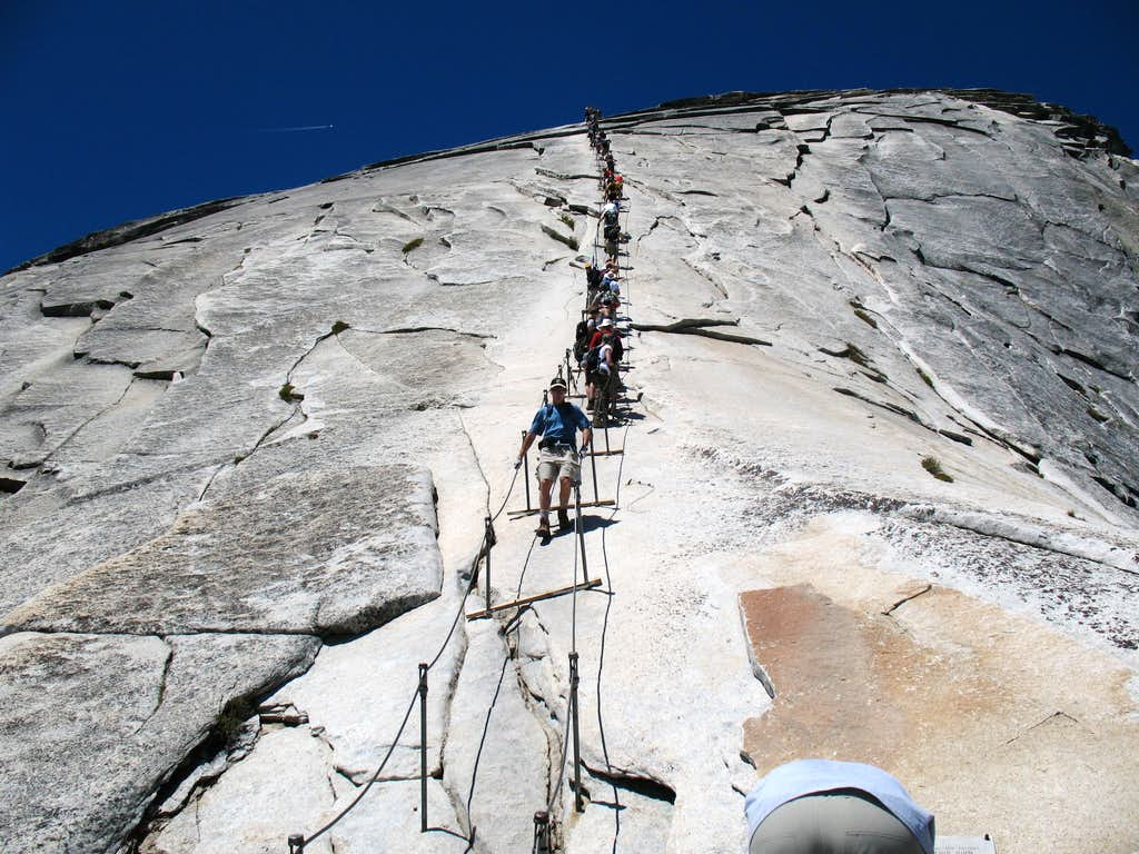Half Dome Cables Route Photos Diagrams Amp Topos Summitpost