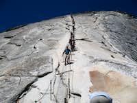 Half Dome Cables Route