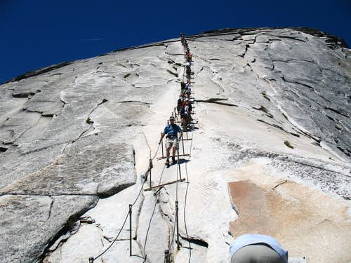 Half Dome Cables Route
